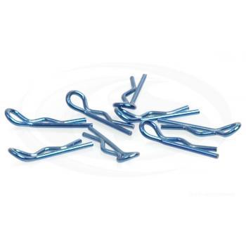 Karosserieclip 1/10 klein - Blau Metallic (8)