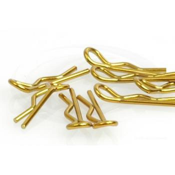 Karosserieclip 1/10 klein - Gold (8)