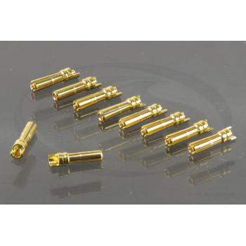 G4 Goldkontakt Stecker mit Lötkelch (10)
