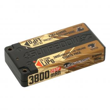 Sunpadow LiPo Akku 3800mAh 130C/65C 2s Shorty Ultra LCG 4mm Buchse