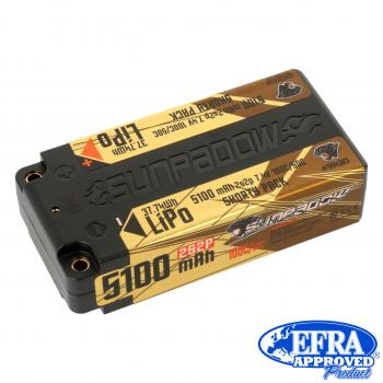 Sunpadow LiPo Akku 5100mAh 100C/50C 2s Competition Shorty 4mm Buchse Sunpadow