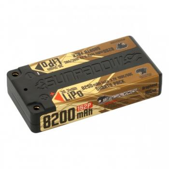 Sunpadow LiPo Akku 8200mAh 100C/50C 1s Shorty Ultra LCG 4mm Buchse