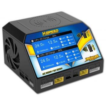 HSPEED Herakles NEO AC/DC Dual-Ladegerät 300WLiPo/LiHV/LiFe/LiIon (1-6S), NiMh/NiCd (1-16S)