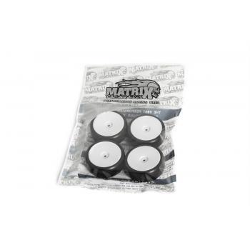 Matrix 1/10 EP 36R Rubber Tire Pre-glued 4pcs , Asphalt