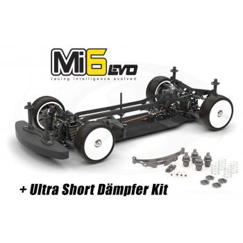 Schumacher 1:10 4WD Tourenwagen Mi6evo Pro Kohlefaser, Baukasten + Ultra Short Shock Conversion Kit