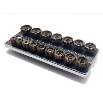 SET OF 16 ALU PINIONS 48DP WITH CADDY 15T ~ 30T ARROWMAX (GEARS )